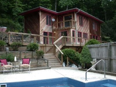 Photo for Private, Wooded Paradise - Just Minutes From Downtown.