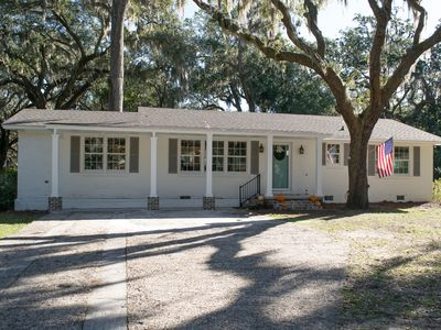 Photo for Adorable Cottage!! Blocks from Bay St., close to Parris Island, adjacent to Park