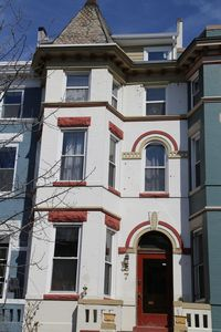 Apartment is on the ground level of a 4-level Victorian row house built in 1895.