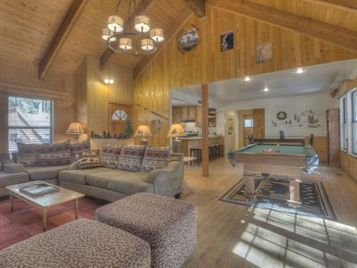 Photo for Knotty & Nice! 6BR Groups & Families! Hot Tub, Pool Table, hiking, 10min to beac