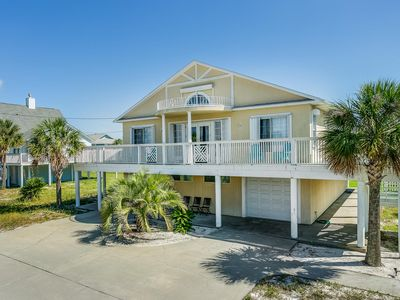 Photo for Newly Remodeled Beach Home Sleeps 11, Huge Wraparound Deck, 2 min walk to Beach