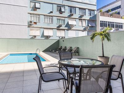 Photo for Omar do Rio - PM101 ApartHotel in Ipanema with Daily Cleaning and Swimming Pool