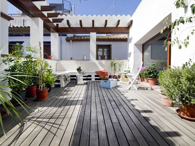 Photo for ANTIK CHARM town house in the old quarter of Sitges and next to the beach.