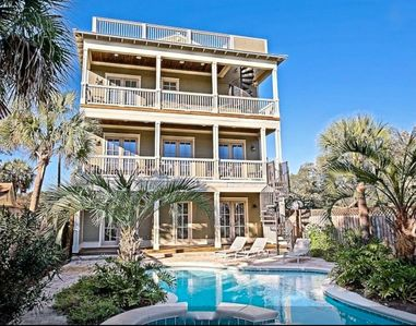 Photo for Grayton Galleon: Spectacular Beach House w/ Private Pool - Panoramic Gulf Views!