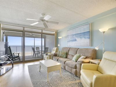 Photo for FREE DAILY ACTIVITIES!!! LINENS INCLUDED*! OCEANFRONT!! MINI-WEEK GETAWAY!! Very nice 4th floor unit in an elevator building. This unit is in the mini-week program with flexible check-in and check-out days