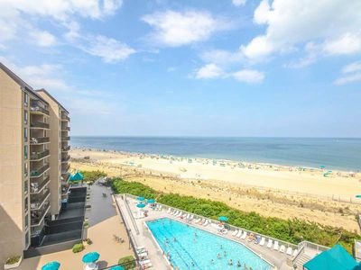 Photo for G710: Updated Oceanfront 2BR+Den Condo at Sea Colony - Private Beach, Pools ...
