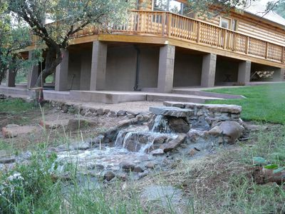 Log Cabin in the Pines, Treehouse with Swinging Bridge, beautiful stream nearby