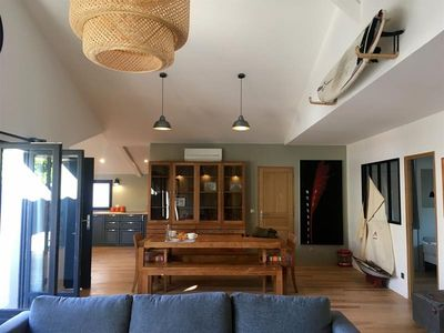 Photo for B40 Superb wooden holiday house - beautiful terrace Center Cap Ferret, close to the sea.