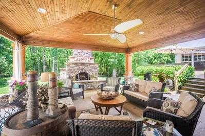 Our outdoor space is a wonderful private retreat.