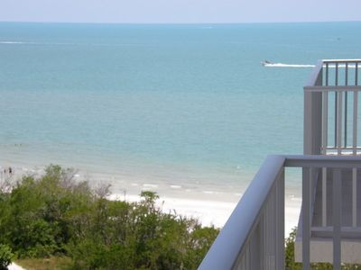 View of the Gulf from our balcony.