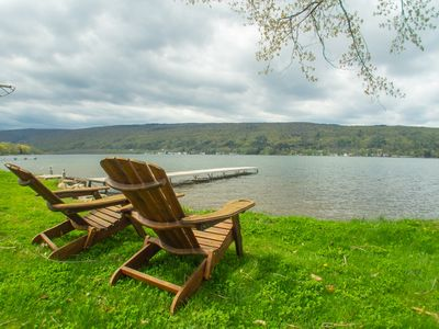 Photo for Honeoye Lake House with Spectacular  View - quiet and large flat lake property