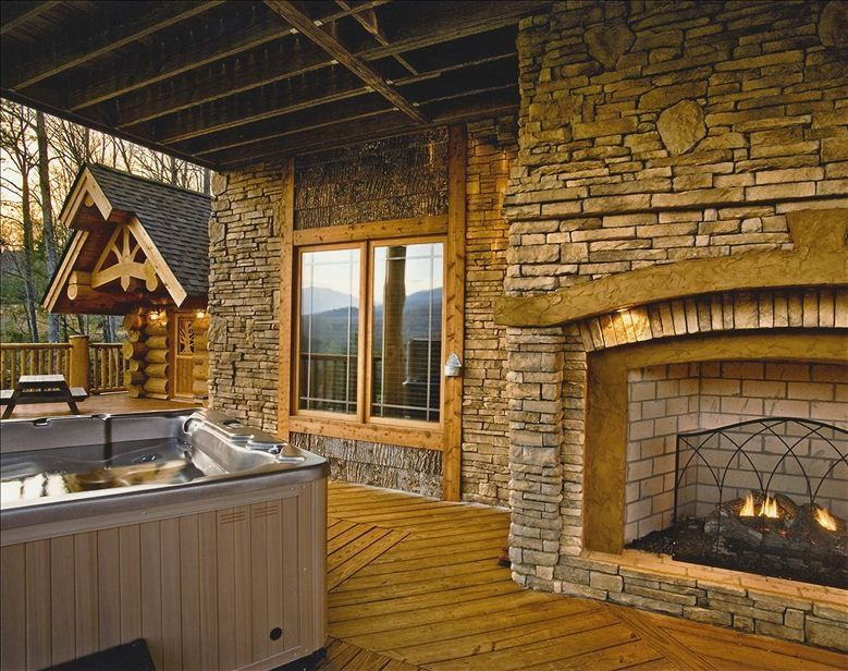 tub with hot vacation your jacuzzi beautiful winter cabin tubs cabins for hidden hideaway in gatlinburg the