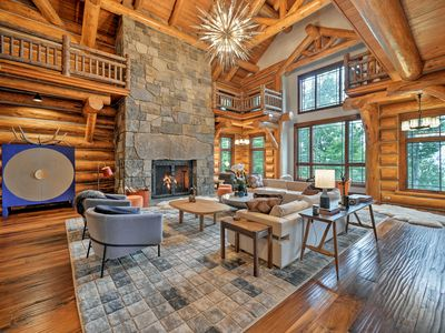 Photo for Luxury Mountain Log Home, Ski-In/Ski-Out to Windham Resort