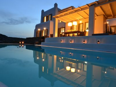 Photo for Amazing Villa Elegante Mykonos An Exclusive Spot with Private Pool 6 Bedrooms 6 Bathrooms up to 12 Guests !