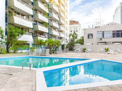 Photo for Luxurious Flat with swimming pool, sauna and garage in the heart of Copacabana