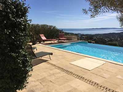 Photo for Villa des Anges, pool and sea view