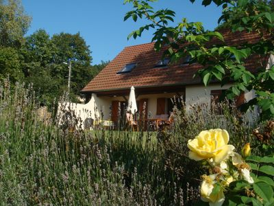 Photo for Romantic country house, great garden, quiet idyll in Évelle near Beaune, Wi-Fi