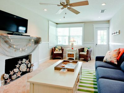 Photo for Charming, colorful home w/ private pool & terrace - steps to beach & trolley!