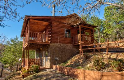 Photo for Tasteful, secluded cabin w/ private hot tub, game room & picturesque views