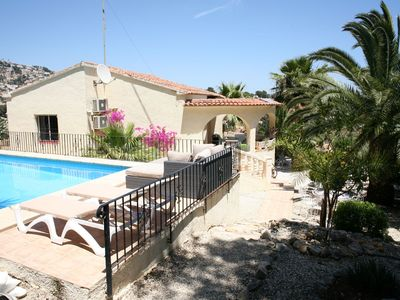 Photo for Detached villa with private swimming pool and naya, 1500m from the sea, Moraira surroundings