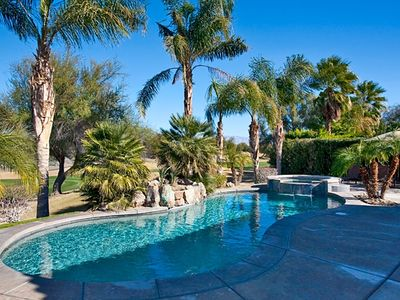 Photo for On the Golf Course! Gorgeous Rancho Mirage Vacation Home with Private Pool and Spa