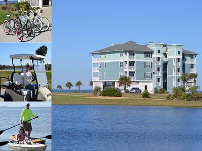 Photo for 3 BR WATERFRONT W INCREDIBLE VIEW, Includes Golf Crt, Kayaks,Bik