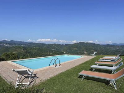 Photo for Villa with private pool, WIFI, TV, terrace, pets allowed, panoramic view, parking, close to Lucca