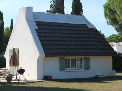 Photo for Authentic Gardian Camargue Hut SWIMMING POOL 5 minutes from the village and BEACHES