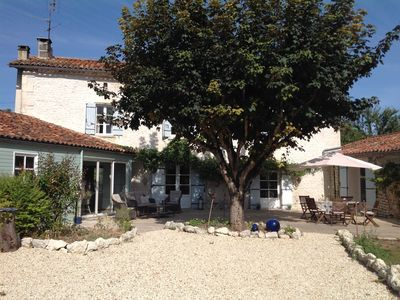 Photo for 17th Century Charente Farmhouse (whole house and pool)