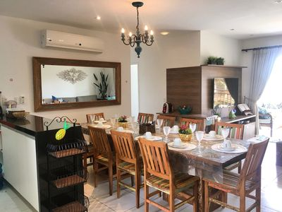 Photo for Holiday Apartment Family - 4 bedrooms - view pool - barbecue - all equipped