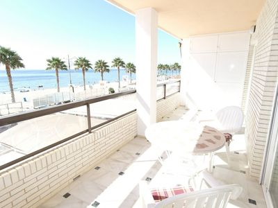 Photo for Nice apartment on the first line of the beach. It is located on the first floor of the bui