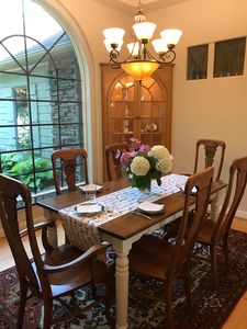 Dining room with wonderful garden views.