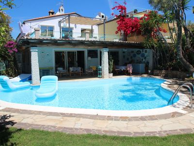 Photo for Stunning private villa for 8 people with private pool, WIFI, hot tub, A/C, TV and parking