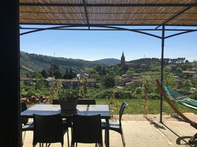Photo for House with pool, garden, terrace with panoramic views Ardèche