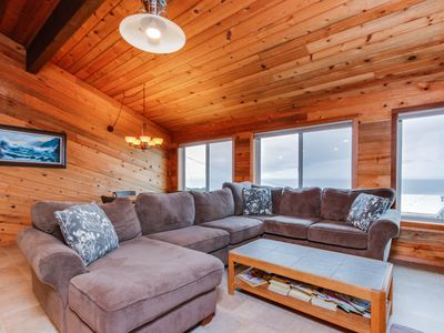 Photo for Beachside home with gorgeous ocean views and calming cabin atmosphere!