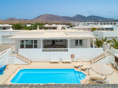 Photo for Villa Mar Azul: Large Heated Private Pool, Walk to Beach, WiFi, Car Not Required