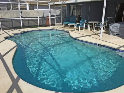 Photo for Modern Retreat S Facing Pool-spa/Free Pool Heat/Cool Game Room/3 Mi. From Disney