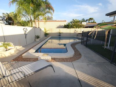 Photo for 62 Tingira Close - Modern lowset home with swimming pool, outdoor area, ample parking. Pet friendly