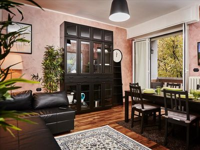 Photo for Artistic flat surrounded by greenery steps from Navigli!