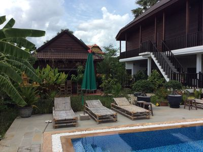 Photo for Khmer Wood house with pool