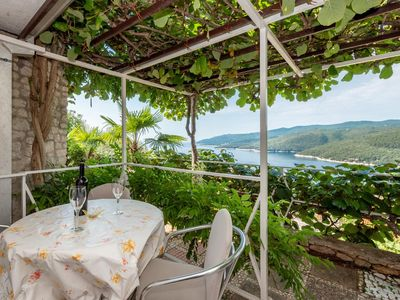 Photo for One bedroom apartment with terrace and sea view Rabac, Labin (A-12107-d)