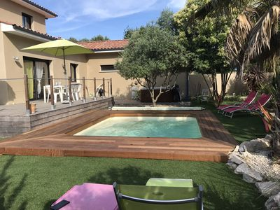 Photo for Air Conditioned Villa, Terrace, Pool, Spa, Landscaped Garden, Private Parking, Quiet