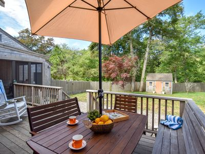Photo for #442: Large fenced-in yard for BBQs and lawn games! Central A/C, Dog friendly!