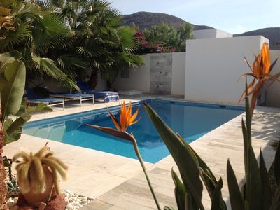 Photo for modern villa with wifi private pool 300 m from the beach in Las Negras