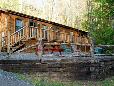 Photo for A Cozy Cabin In The Woods! Only 3 miles from downtown Bryson City!