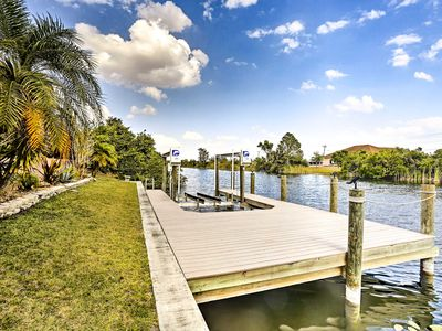 Photo for Waterfront Cape Coral Home w/ Dock, Pool & Lanai!