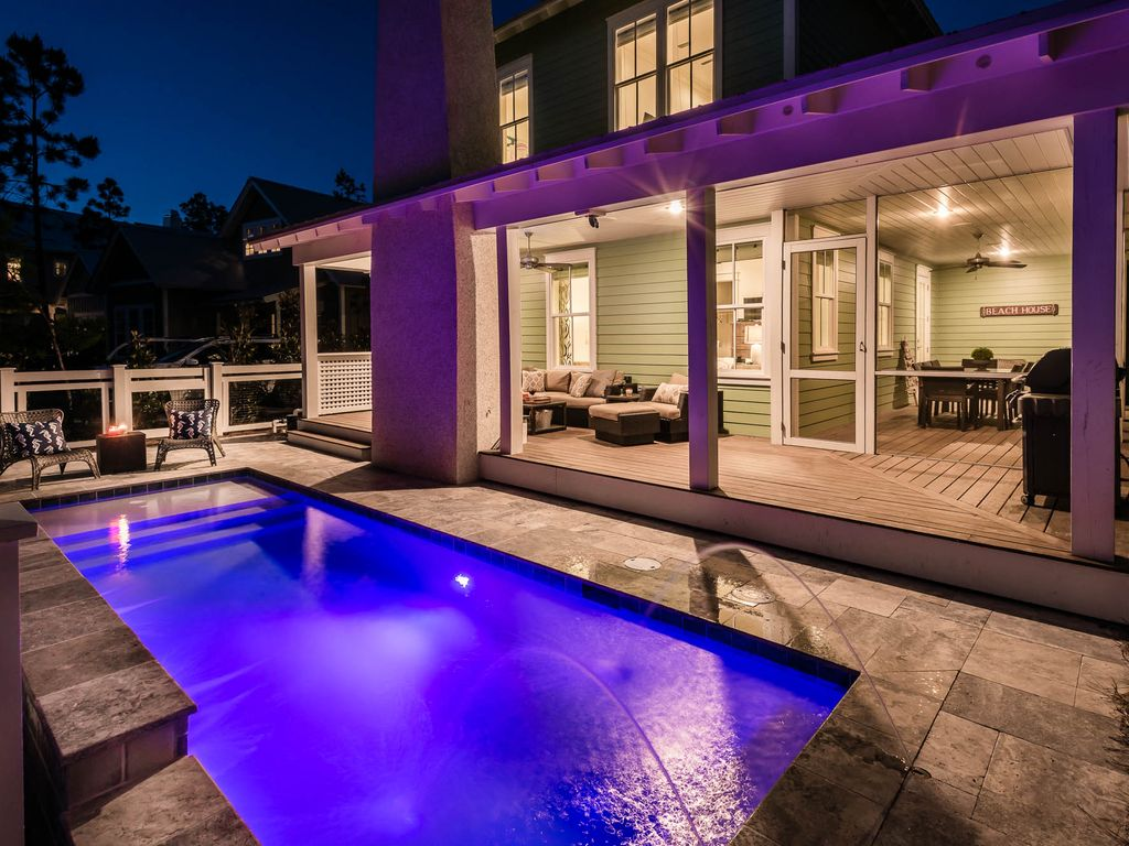 Watercolor 75 wisteria way new construction with private for Virtual pool builder