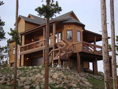 Photo for Secluded Luxury Rocky Mountain Retreat with unrivaled views/Sleeps 14