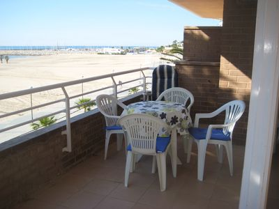 Photo for AT095 LES PALMERES: Apartment with spectacular view of the beach