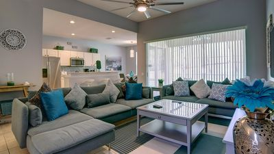 Photo for Beautifully Renovated-Great Amenities-Private West Facing Pool-NEW Water Park